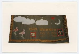 Primary view of object titled '[AIDS Memorial Quilt Panel for Don Warner]'.