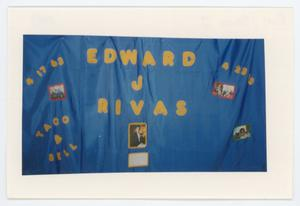 Primary view of object titled '[AIDS Memorial Quilt Panel for Edward J. Rivas]'.