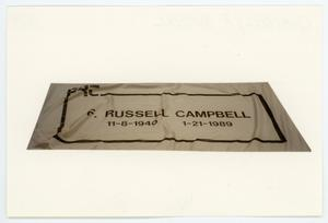 Primary view of object titled '[AIDS Memorial Quilt Panel for F. Russell Campbell]'.