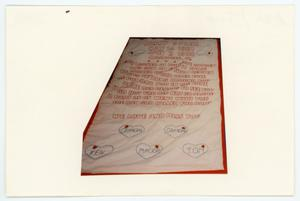 Primary view of object titled '[AIDS Memorial Quilt Panel for Jimmy Byrum]'.