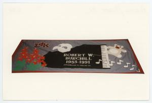 Primary view of object titled '[AIDS Memorial Quilt Panel for Robert W. Burchill]'.