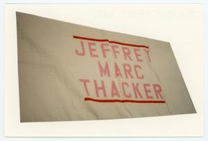 Primary view of object titled '[AIDS Memorial Quilt Panel for Jeffrey Marc Thacker]'.