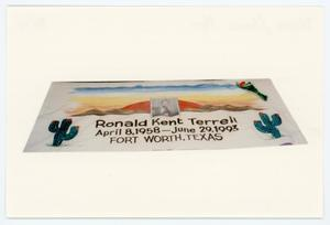 Primary view of [AIDS Memorial Quilt Panel for Ronald Kent Terrell]