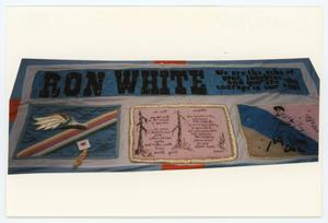 Primary view of object titled '[AIDS Memorial Quilt Panel for Ron White]'.