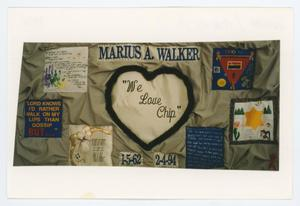 Primary view of object titled '[AIDS Memorial Quilt Panel for Marius A. Walker]'.