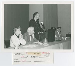Primary view of object titled '[Several Speakers During Panel Discussion]'.