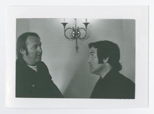 Primary view of object titled '[Unidentified Men Talking]'.