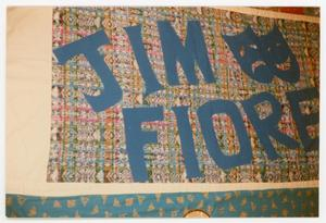 Primary view of object titled '[AIDS Memorial Quilt Panel for Jim Fiore]'.