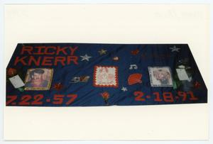 Primary view of object titled '[AIDS Memorial Quilt Panel for Ricky Knerr]'.