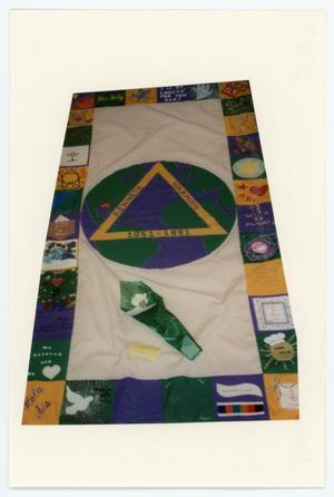 Primary view of object titled '[AIDS Memorial Quilt Panel for Kenneth Harmon]'.