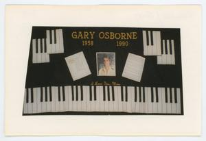 Primary view of object titled '[AIDS Memorial Quilt Panel for Gary Osborne]'.