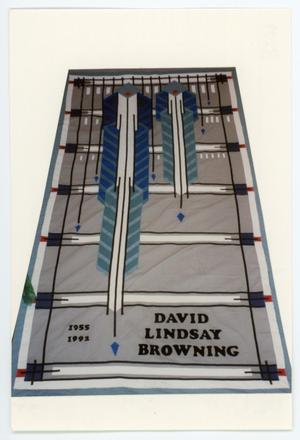 Primary view of object titled '[AIDS Memorial Quilt Panel for David Lindsay Browning]'.
