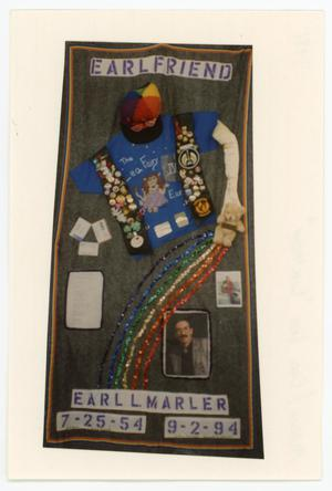 "Primary view of object titled '[AIDS Memorial Quilt Panel for Earl Lee ""Earlfriend"" Marler]'."