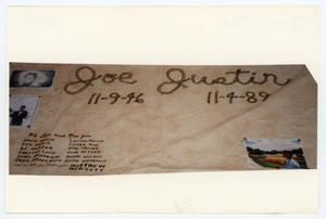 Primary view of object titled '[AIDS Memorial Quilt Panel for Joe Justin]'.