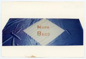 Primary view of object titled '[AIDS Memorial Quilt Panel for Mark Babb]'.