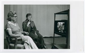 Primary view of object titled '[Joanne Conwag and Carolyn Jones Sitting]'.