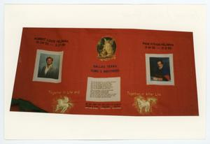 Primary view of object titled '[AIDS Memorial Quilt Panel for Mark and Robert Feldman]'.
