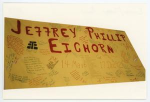 Primary view of object titled '[AIDS Memorial Quilt Panel for Jeffrey Phillip Eichorn]'.
