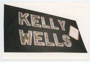 Primary view of object titled '[AIDS Memorial Quilt Panel for Kelly Wells]'.