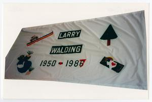 Primary view of object titled '[AIDS Memorial Quilt Panel for Larry Walding]'.