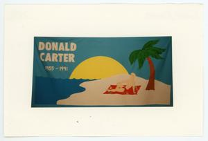 Primary view of object titled '[AIDS Memorial Quilt Panel for Donald Carter]'.