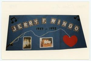 Primary view of object titled '[AIDS Memorial Quilt Panel for Jerry F. Wingo]'.