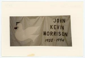 Primary view of object titled '[AIDS Memorial Quilt Panel for John Kevin Morrison]'.