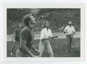 Primary view of object titled '[Group Playing Outdoor Volleyball]'.