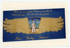 "Primary view of object titled '[AIDS Memorial Quilt Panel for Ken ""Corky"" Thomas]'."