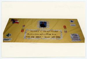 Primary view of object titled '[AIDS Memorial Quilt Panel for Sidney C. Beauchamp]'.