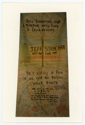 Primary view of object titled '[AIDS Memorial Quilt Panel for Jeff Strachen]'.