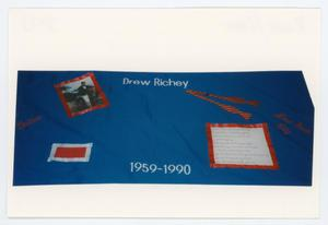 Primary view of object titled '[AIDS Memorial Quilt Panel for Drew Richey]'.