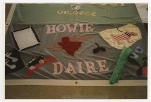 Primary view of object titled '[AIDS Memorial Quilt Panel for Howie Daire]'.