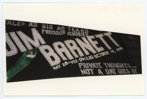 Primary view of object titled '[AIDS Memorial Quilt Panel for Jim Barnett]'.