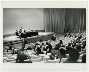 Primary view of object titled '[View of the Panel on Oral History at a Conference]'.