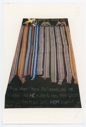Primary view of object titled '[AIDS Memorial Quilt Panel for James Ratzel]'.
