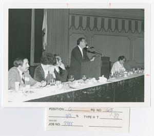 Primary view of object titled '[Eugene Aleinikoff Speaking]'.