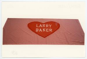 Primary view of object titled '[AIDS Memorial Quilt Panel for Larry Baker]'.
