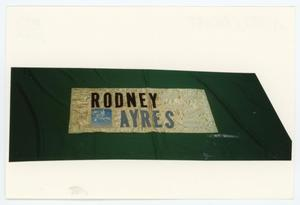 Primary view of object titled '[AIDS Memorial Quilt Panel for Rodney Ayres]'.