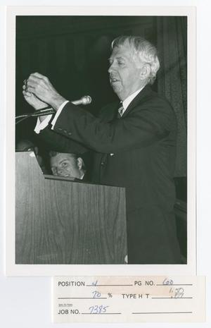 Primary view of object titled '[John Tolaud Speaking]'.
