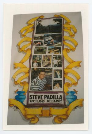 Primary view of object titled '[AIDS Memorial Quilt Panel for Steve Padilla]'.