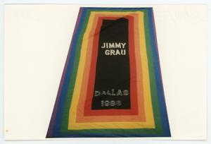 Primary view of object titled '[AIDS Memorial Quilt Panel for Jimmy Grau]'.
