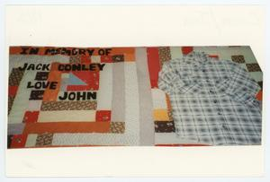 Primary view of object titled '[AIDS Memorial Quilt Panel for Jack Conley]'.