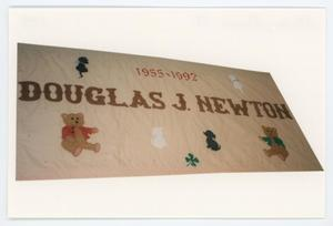 Primary view of object titled '[AIDS Memorial Quilt Panel for Douglas J. Newton]'.
