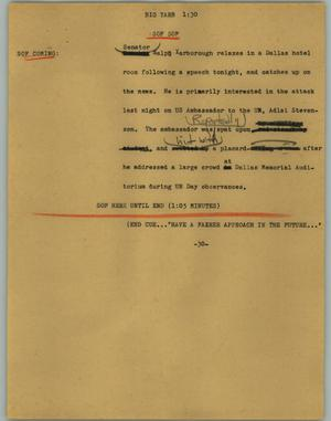 Primary view of object titled '[News Script: Big yarb]'.