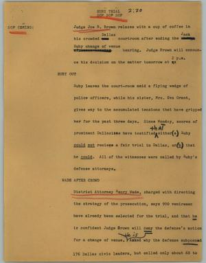 Primary view of object titled '[News Script: Ruby trial]'.