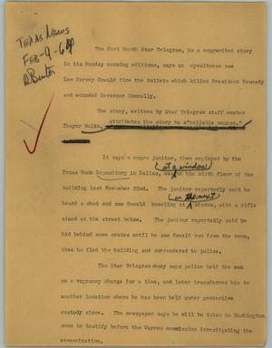 Primary view of object titled '[News Script: Witness]'.