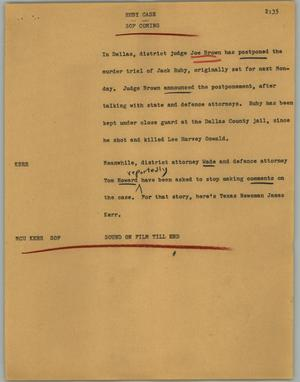 Primary view of object titled '[News Script: Ruby case]'.