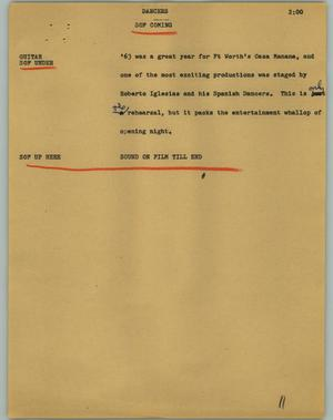 Primary view of object titled '[News Script: Dancers]'.