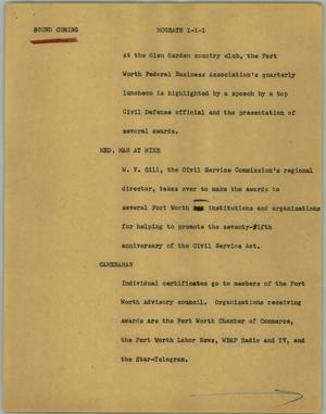 Primary view of object titled '[News Script: Mcgrath]'.